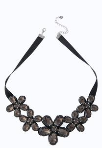 Acrylic Flower Statement Necklace