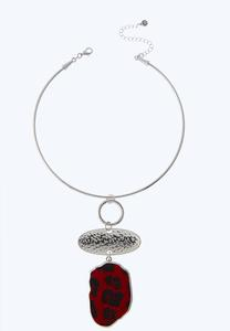 Red Animal Wire Necklace