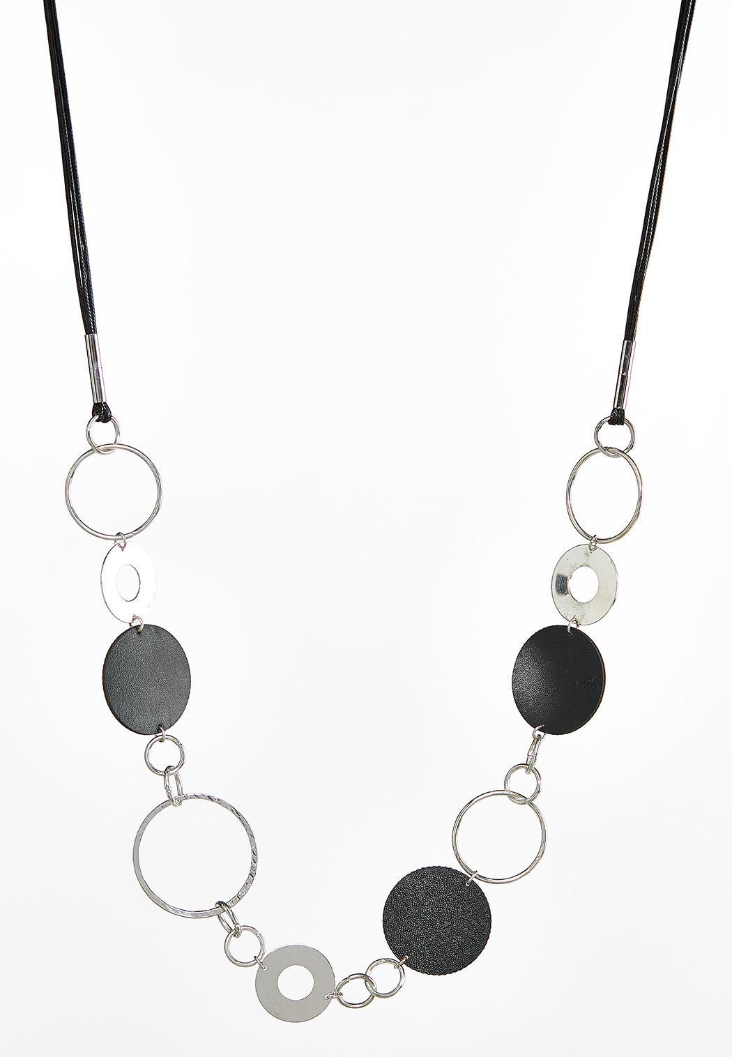 Mod Circle Cord Necklace
