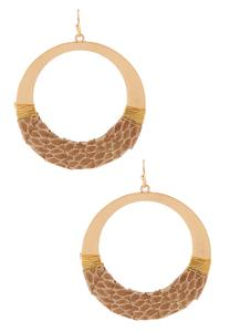 Snakeskin Open Circle Earrings