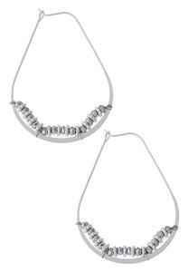Metallic Oval Bead Earrings