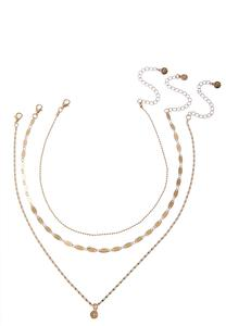 Mixed Chain Pendant Necklace Set