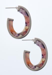 Lucite Blush Hoop Earrings