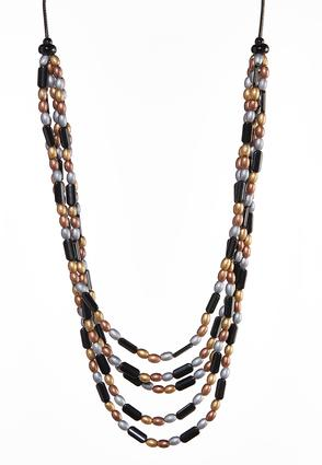 Layered Metallic Toned Necklace