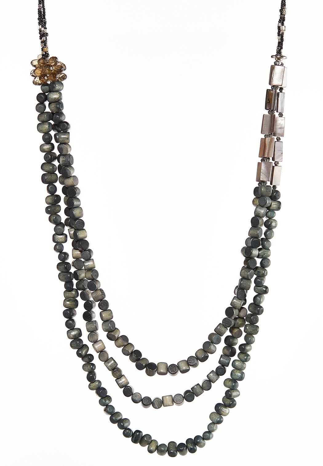 Wondrous Wooden Bead Necklace