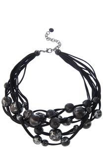 Black Chunky Bead Necklace