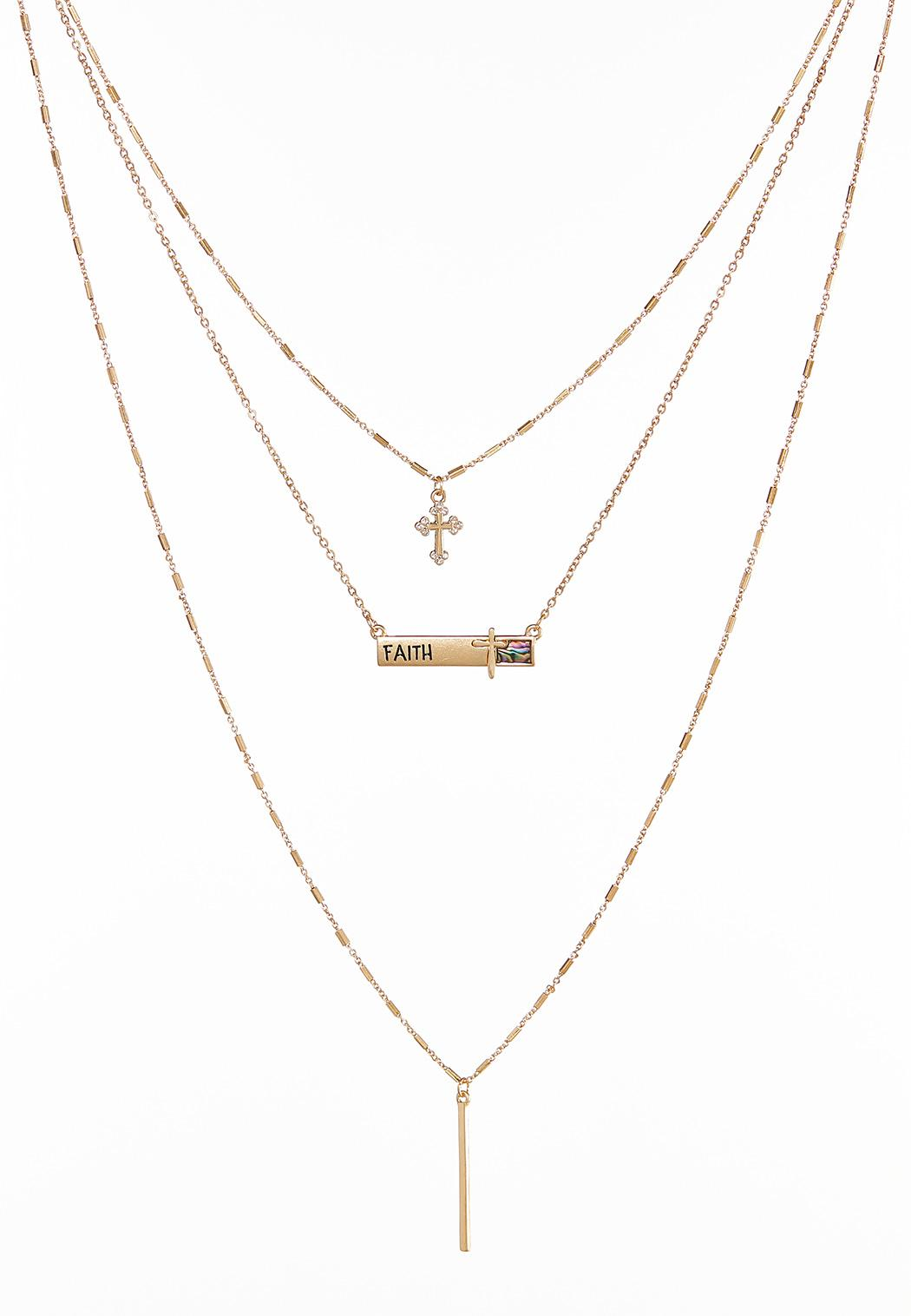 Delicate Layered Faith Necklace