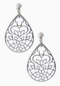 Lotus Filigree Earrings