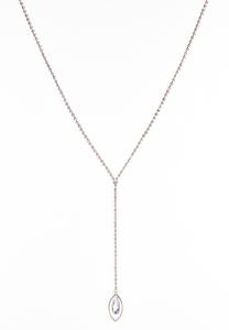Rose Gold Sparkling Y-Necklace