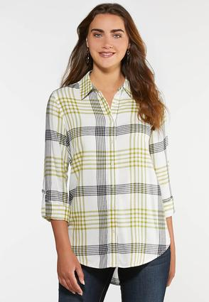 Green Plaid Shirt