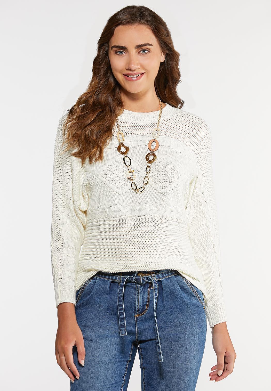 Ivory Cable Stitch Sweater