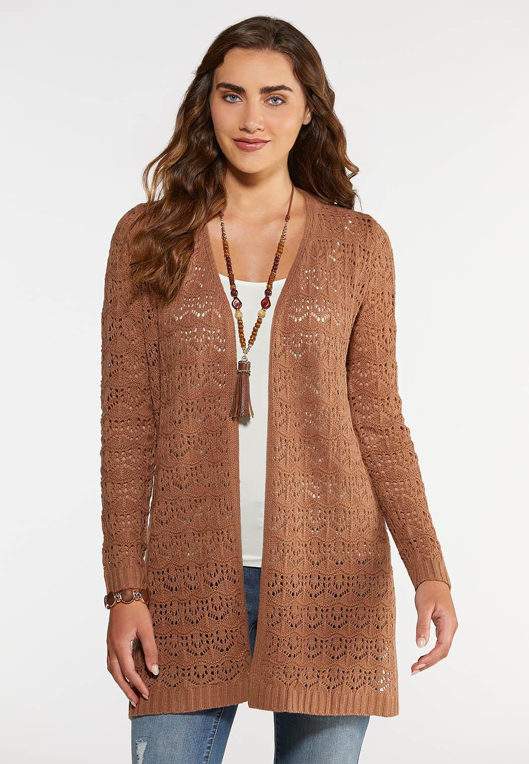 Beige Duster Cardigan Sweater