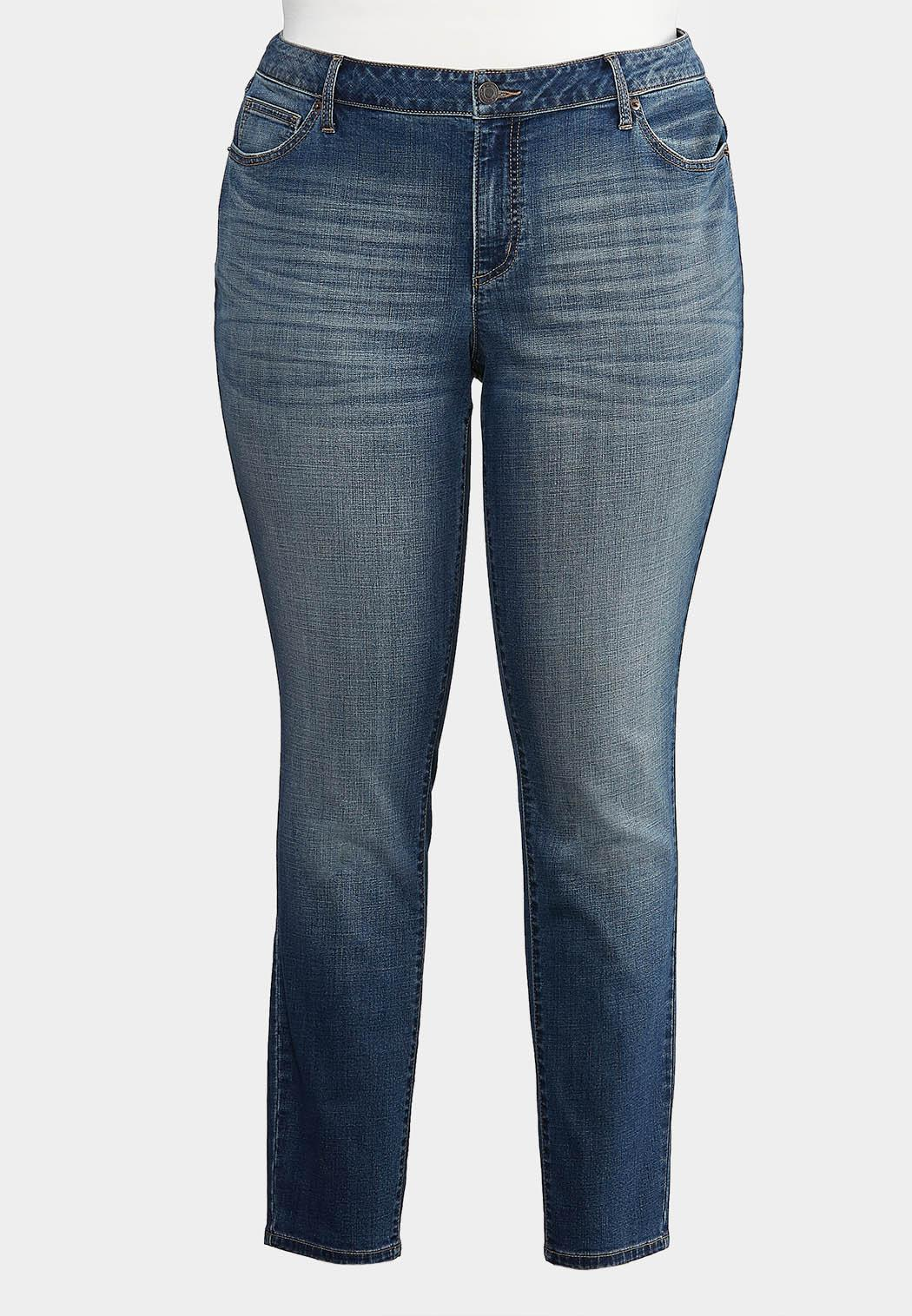 Plus Size Curvy Washed Skinny Jeans