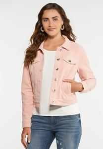 Plus Size Pink Corduroy Jacket
