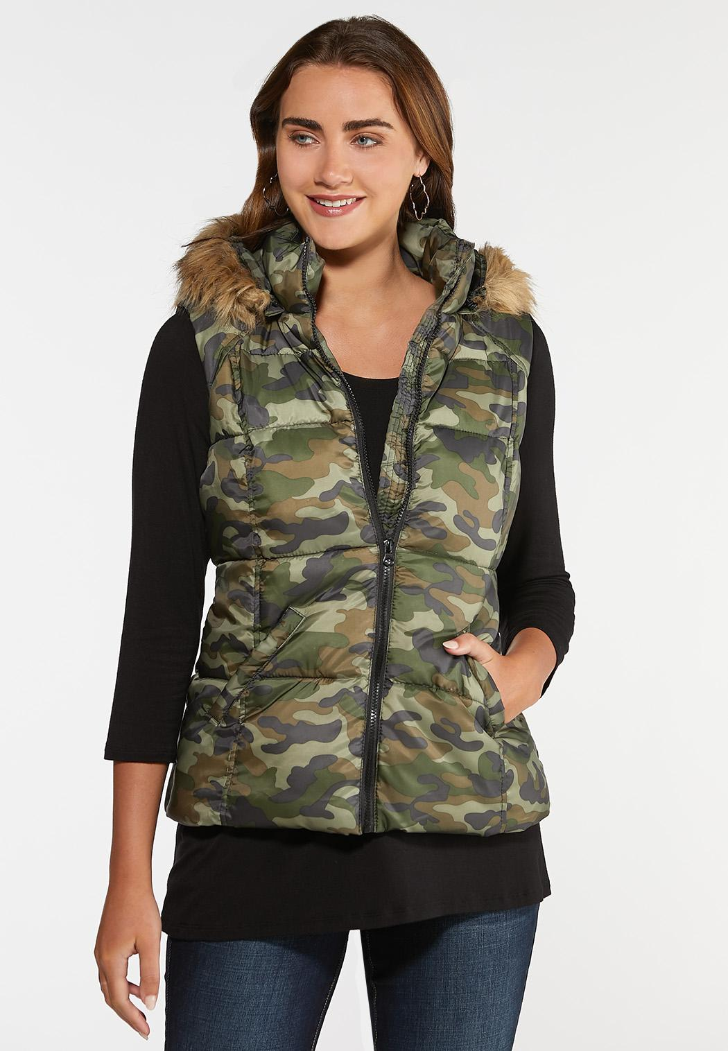 stylish design another chance clear and distinctive Camo Puffer Vest