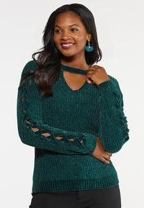 Green Chenille Sweater