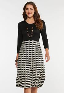 Pleated Sweater Dress