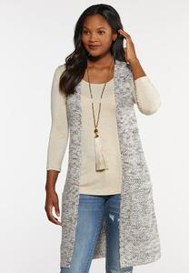 Plus Size Marled Knit Vest