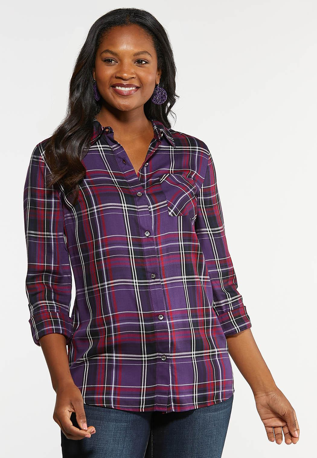 Bling Plaid Top