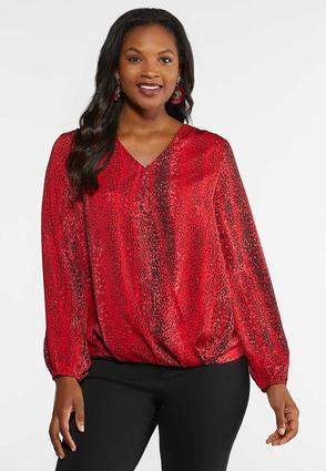 Plus Size Animal Envelope Top