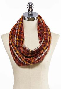 Plaid Chenille Infinity Scarf