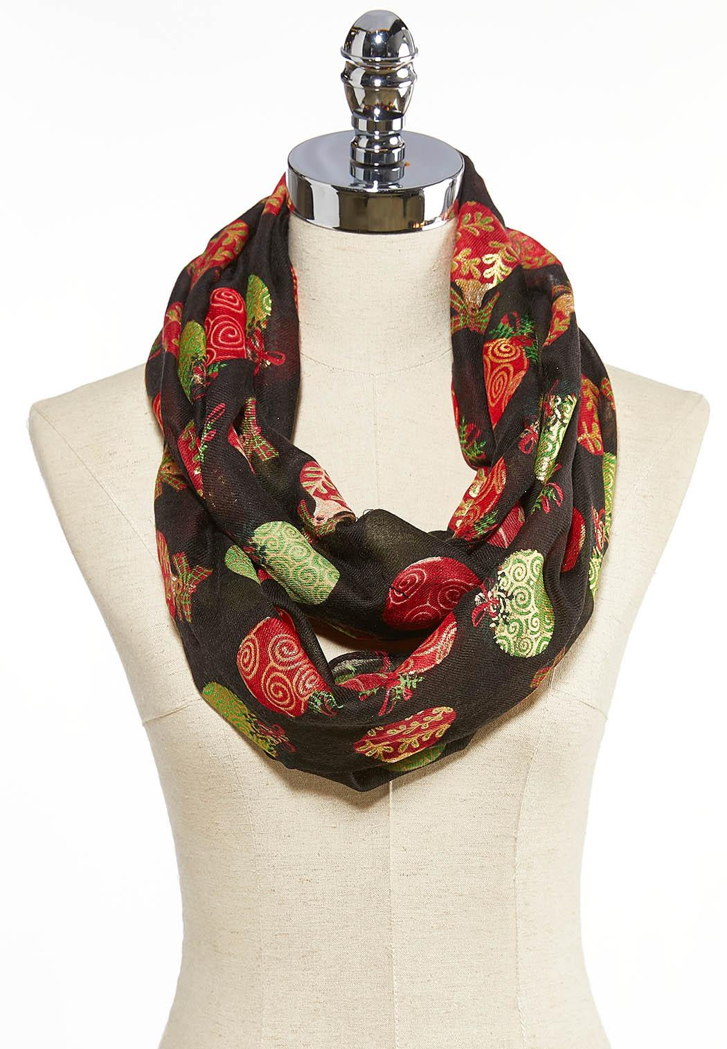 Christmas Ornament Infinity Scarf
