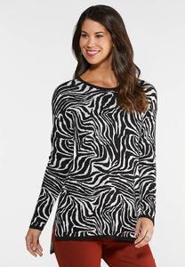 Zebra Tunic Sweater