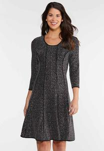 Shimmery Fit And Flare Dress