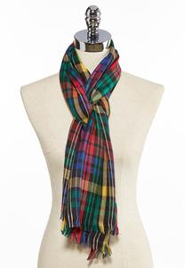Colorful Plaid Oblong Scarf