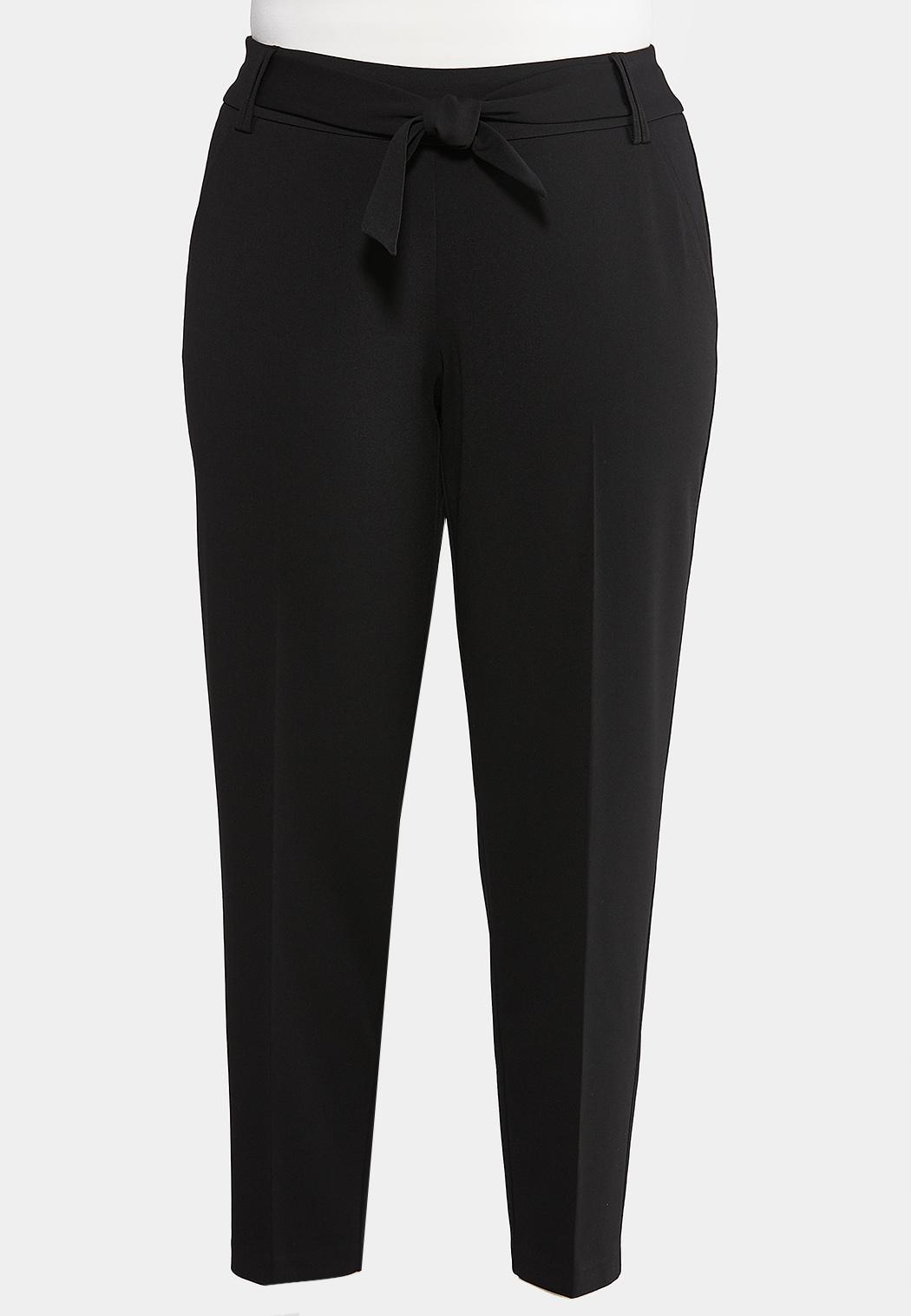 Plus Size Tie Waist Dress Pants