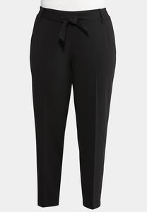 Plus Size Tie Waist Dress Pants