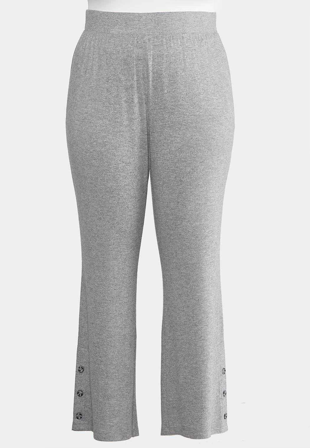 Plus Size Button Lounge Pants