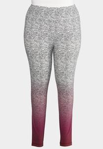 Plus Size Dip Dye Active Leggings