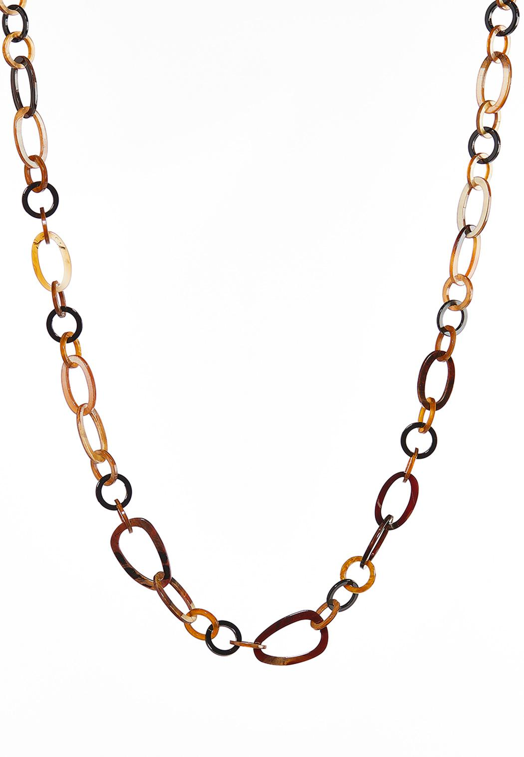 Long Tortoise Link Necklace