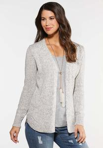 Plus Size Multi Cable Knit Cardigan
