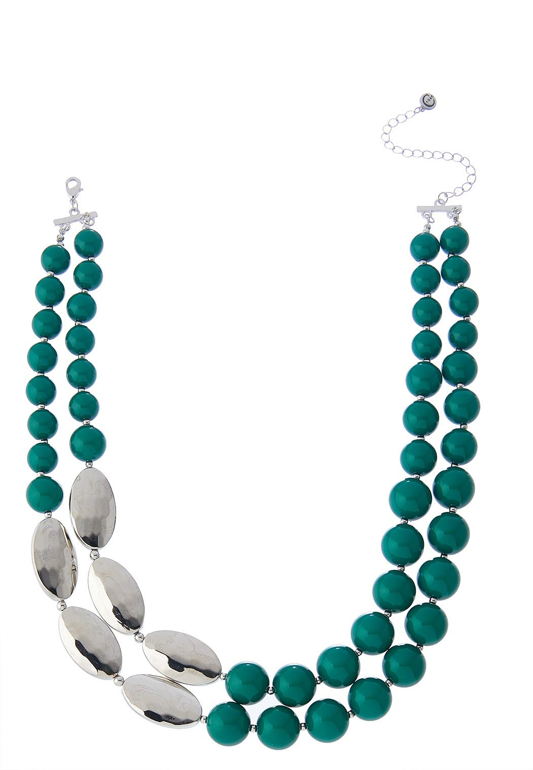 Layered Colored Bead Necklace