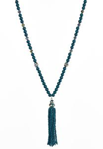 Seed Bead Tassel Necklace