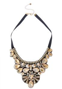 Jeweled Ribbon Necklace