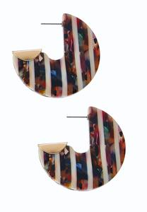 Multi Stripe Resin Earrings