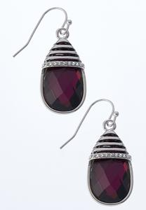 Faceted Purple Stone Earrings