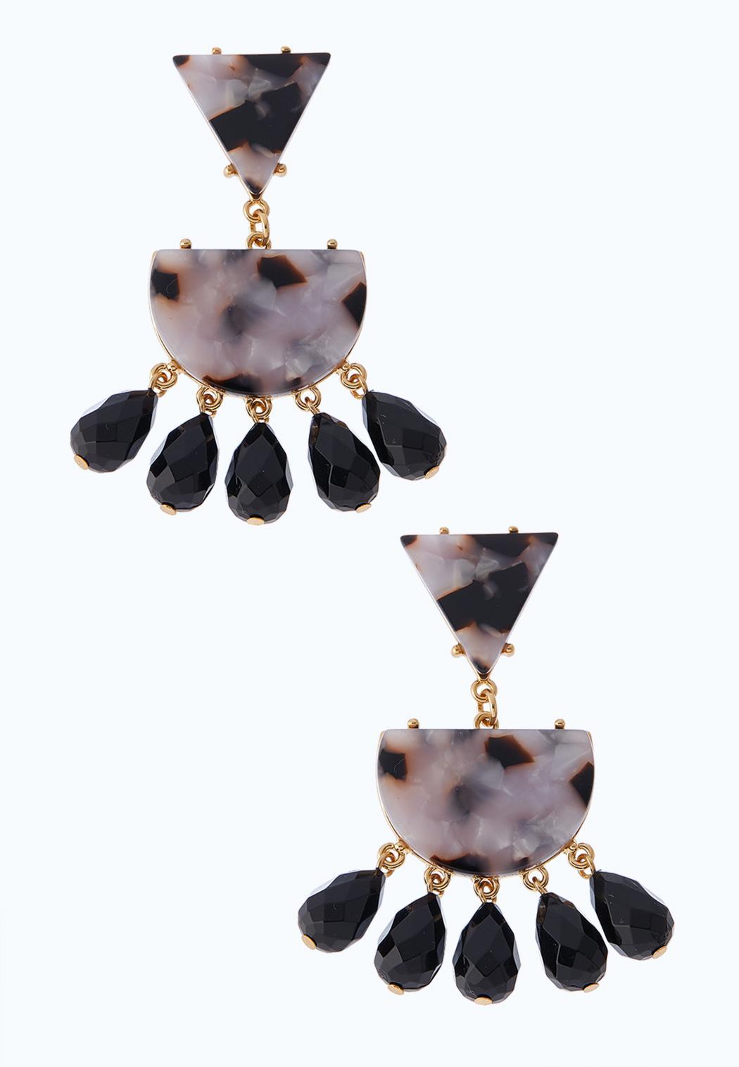 Modern Marbled Lucite Earrings