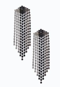 Stone Fringe Statement Earrings