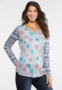 Snowflake Burnout Top
