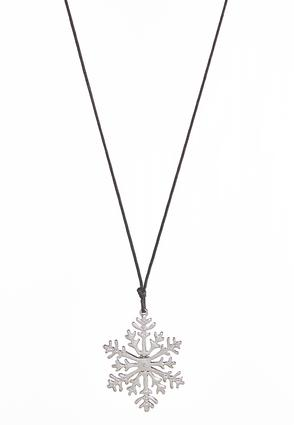 Snowflake Cord Necklace