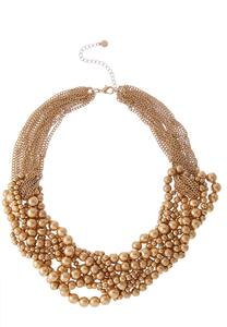 Gold Chain And Bauble Necklace