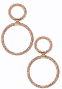 Rose Gold Door Knocker Earrings