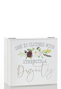 Clothed With Strength Jewelry Box