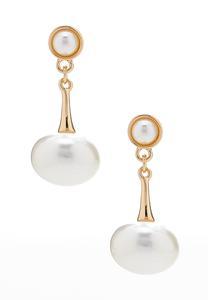 Pearl Gold Post Earrings