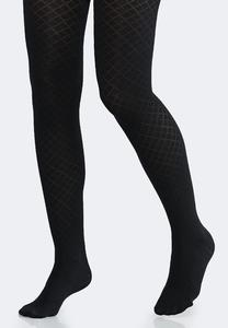 Plus Size Diamond Argyle Tights