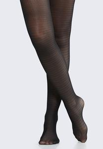 Plus Size Houndstooth Tights